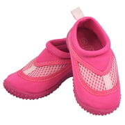 Iplay Baby Girls Sand and Water Swim Shoes Kids Aqua Socks for Babies, Infants, Toddlers, and Children Hot Pink Size 5 / Zapatos De Agua
