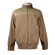 Weatherproof Men's Zip-Front Sweater Jacket (Brown Marl, XL)