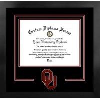 University of Oklahoma Sooners 11w x 8.5h Spirit Diploma Manhattan Black Frame with Bonus Campus Images Lithograph (value savings $59)
