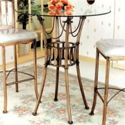 Chintaly Imports ADRIANA-CNT-B Adriana Counter Height Dining Table Base - Rich Bronze