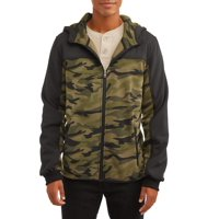 Deals on Climate Concept Mens Camo Full Zip Soft Shell Jacket