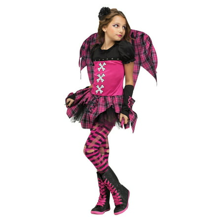 Pink Punky Fairy Girls Halloween Costume - Halloween Costumes Punk Fairy