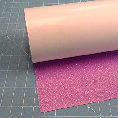 """Neon Purple Siser Glitter 20"""" x 3' (feet) Iron on Heat Transfer Vinyl Roll HTV"""