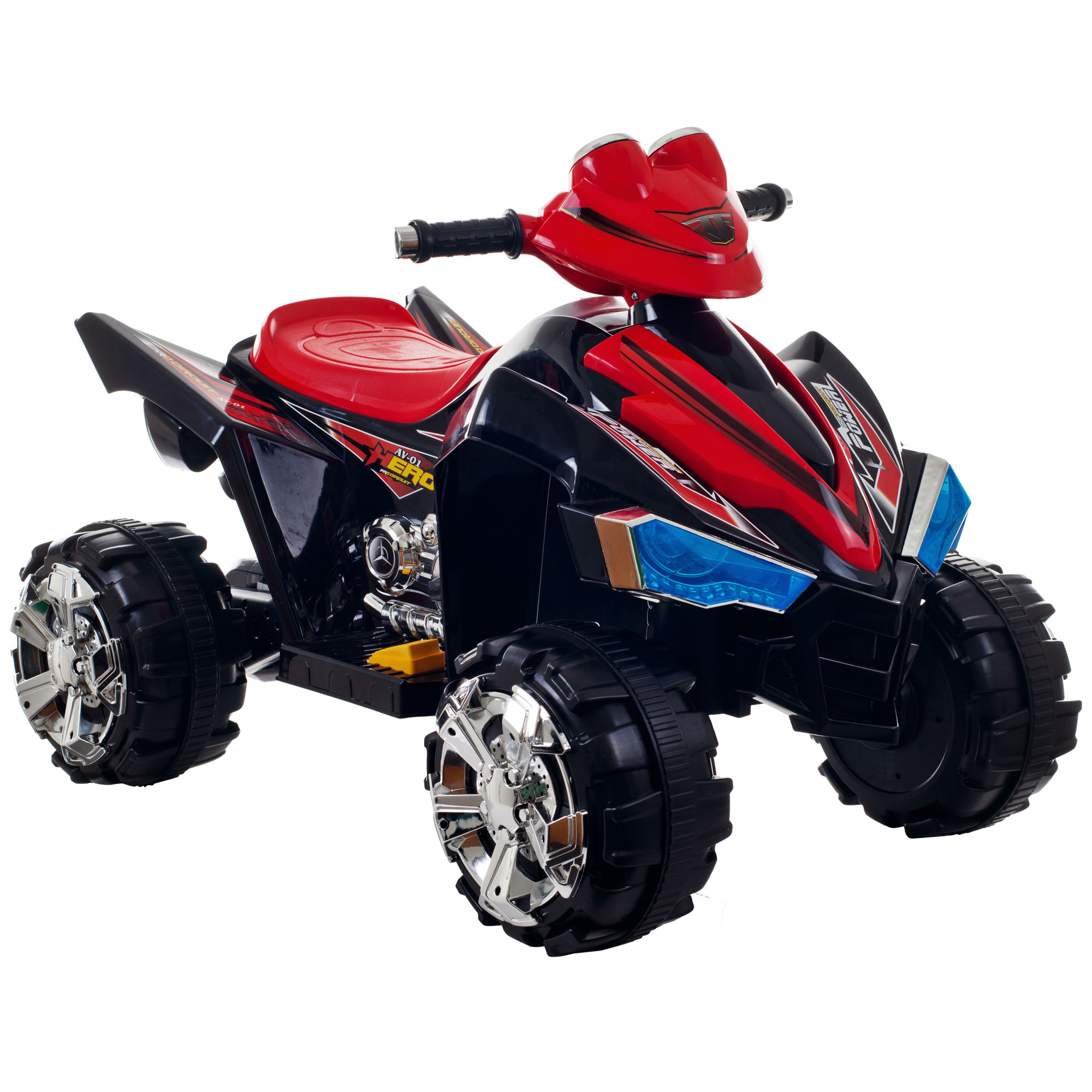 Ride On Toy Quad, Battery Powered Ride On Toy ATV Four Wheeler With Sound Effects by Hey! Play! – Toys for Boys and Girls, 2 - 5 Year Olds (Black)