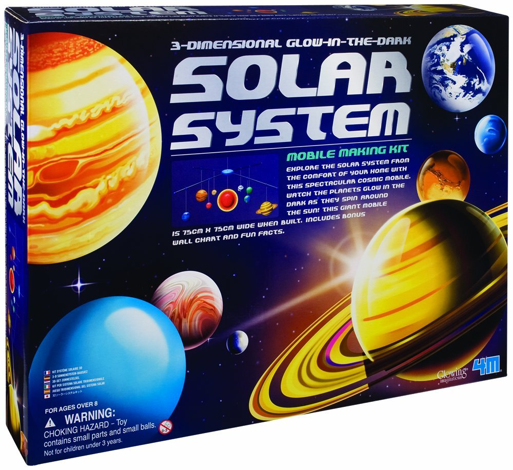 3-Dimensional Glow-In-The-Dark Solar System Mobile Making Kit, SYSTEM New GLOWINTHEDARK Science Glow System The 3DIMENSIONAL SOLAR by.., By 4M