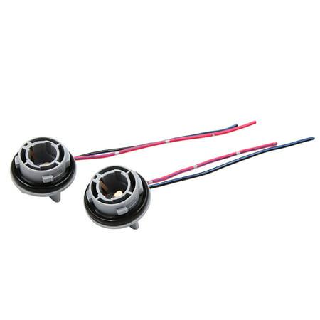 2pcs DC 12V 1156 Car Brake Turn Signal Light Sockets Bulb Harness Adapter - image 3 of 3