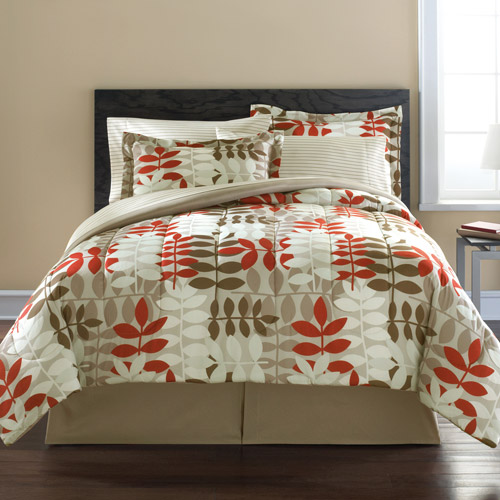 Mainstays Coordinated Bedding Set Botany Botanical Bed in a Bag