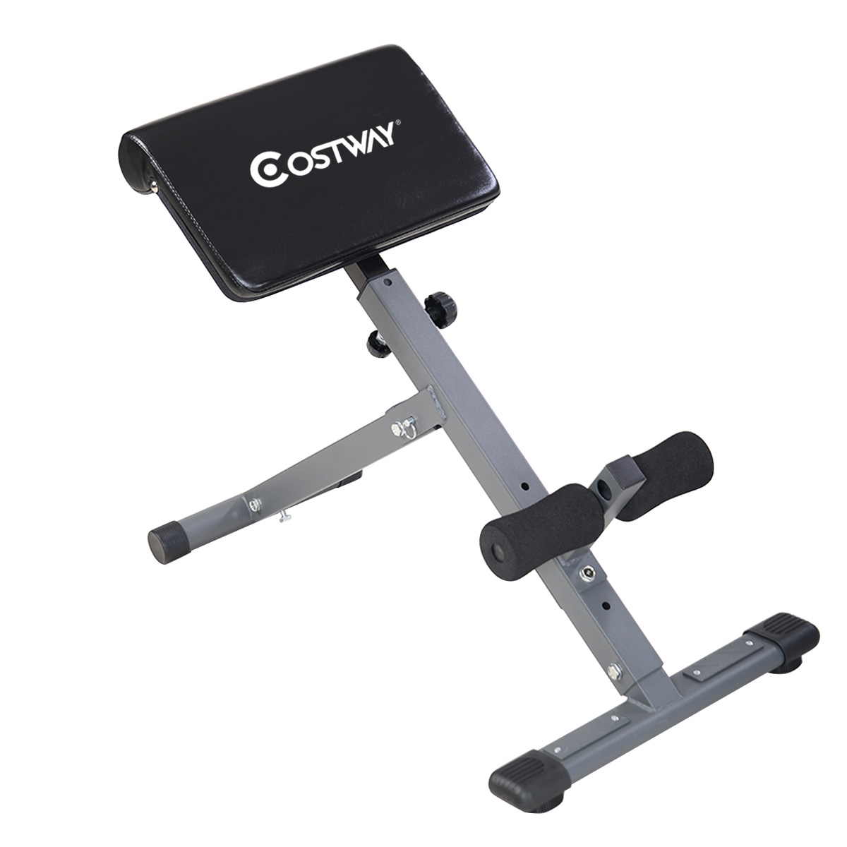 costway adjustable ab back bench hyperextension exercise