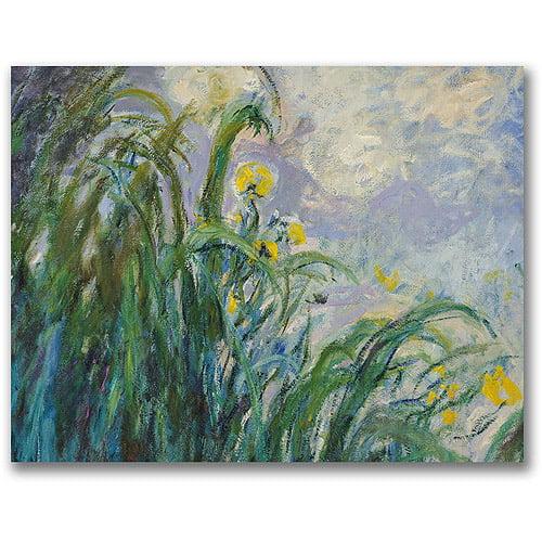 """Trademark Fine Art """"The Yellow Iris"""" Canvas Wall Art by Claude Monet"""