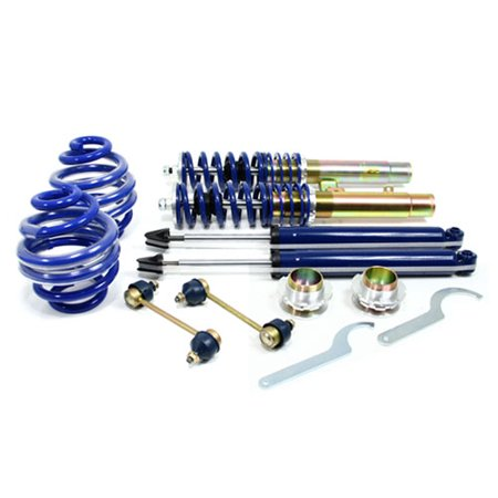 RSK Street Adjustable Coilover Kit - BMW E46 3-Series (Non-M3) - Blue (Street Coilover Kit)
