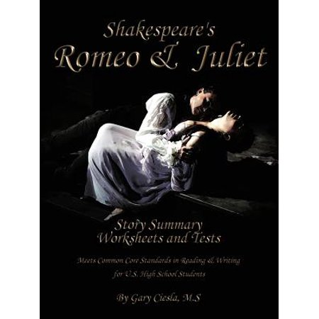 Romeo & Juliet Fill-In-The-Blank Story Summary Worksheets and