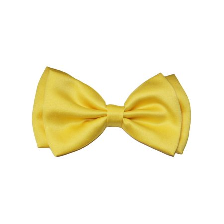 Tuxedo Solid Color Bow Tie, Yellow - Glitter Bow Tie
