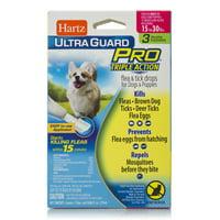 Hartz UltraGuard Pro Flea & Tick Drops for Medium Dogs 16-30lbs, 3 Monthly Treatments