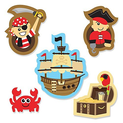 Ahoy Mates! Pirate DIY Shaped Party Cut-Outs 24 Count by Big Dot of Happiness
