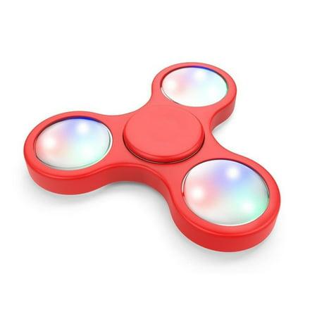 Multi Mode Light Up Led Fidget Spinner Edc Finger Stress Relief Toy