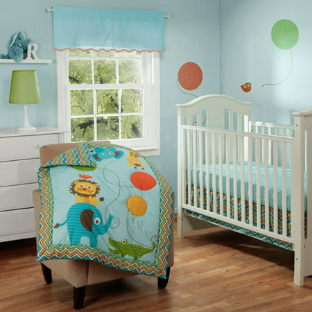Baby Boom Jungle Jam 3pc Crib Bedding Set