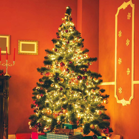 String Lights Christmas Decoration Lights Elk House Wooden String Light 5m 32LED Room Decoration String Lamp Battery Powered Fairy Lights Novelty Night Light Lamp Xmas Tree Lights Indoor Outdoor A