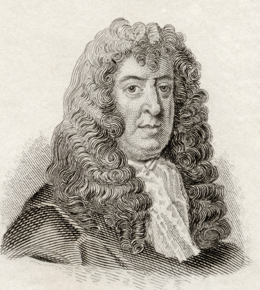 Samuel Butler 1612 To 1680 English Poet And Satirist From Crabbs Historical Dictionary Published 1825 Canvas Art - Ken Welsh  Design Pics (26 x 30)