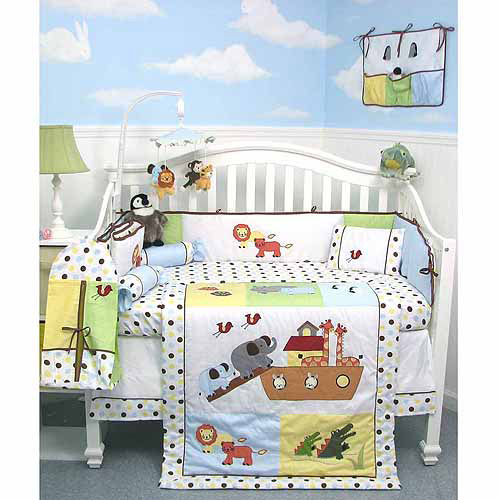 SOHO Noah Ark Baby 14 Piece Crib Nursery Bedding Set
