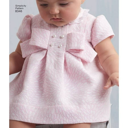 Simplicity Babies' Size XXS-L Dress Pattern, 1 Each Baby Sewing Patterns