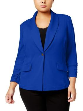 90d482595df Product Image KASPER Womens Blue Blazer Wear To Work Jacket Plus Size  3X