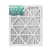12 Pack of 16x20x1 MERV 10 Pleated Air Filters by Glasfloss. Actual Size: 15-1/2 x 19-1/2 x 7/8