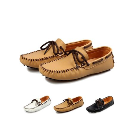 Meigar Men Loafer Shoes Casual Sewing Driving Moccasins Shoes ()