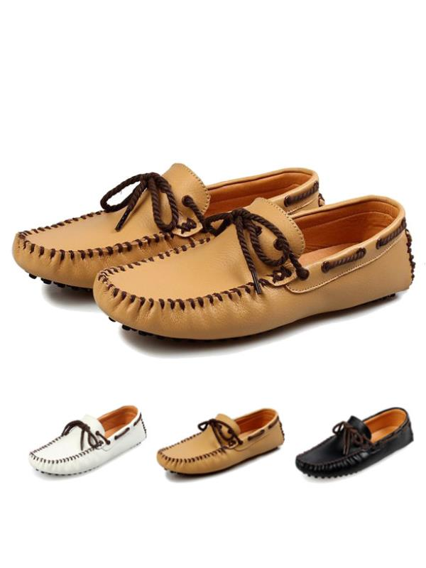 Meigar Men Loafer Shoes Casual Sewing Driving Moccasins Shoes