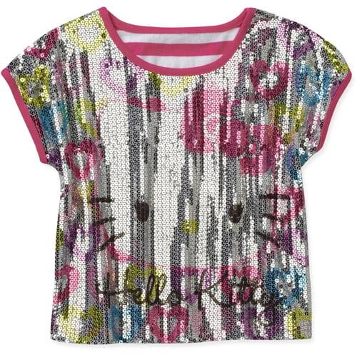 Hello Kitty Girls' Short Sleeve Sublimation Top