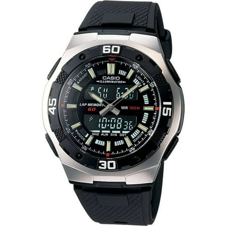 Casio Men's Ana-Digi Sport Watch, Black Resin Strap