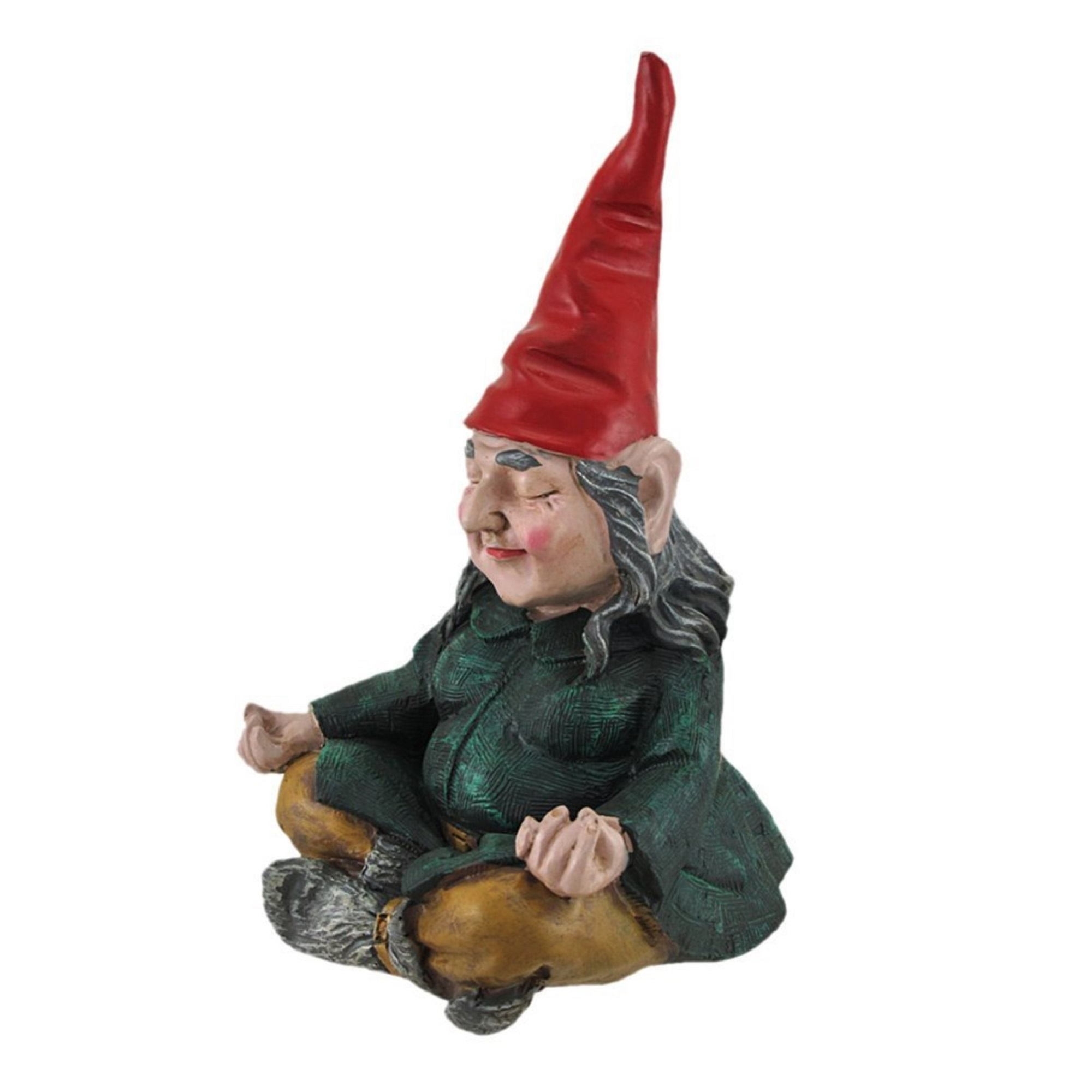 "Gnomes of Toad Hollow Meditating ZEN ""Zelda"" the Female Yoga Garden Gnome... by Garden Gnomes"
