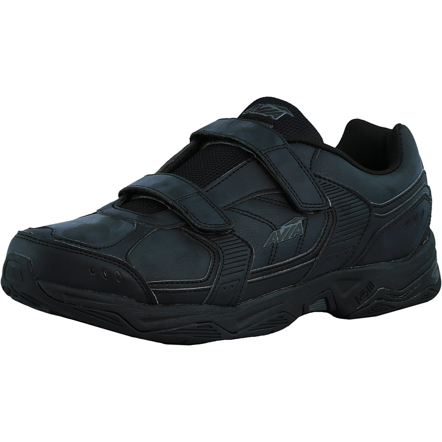 Avia Men's Avi-Tangent Strap Black   Iron Grey Ankle-High Rubber Walking Shoe 11.5W by Avia