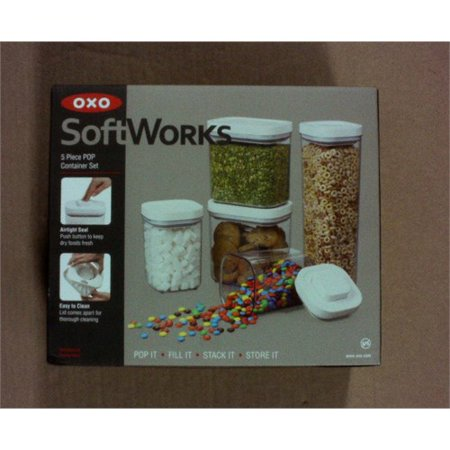 Oxo Softworks Pop Container Set Clear White 5pc