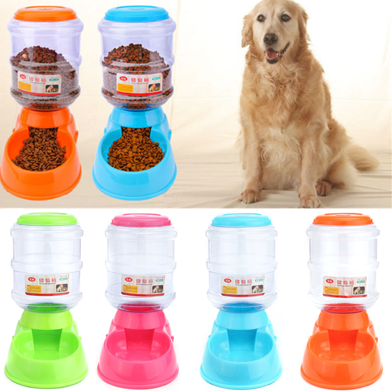 3500ml Large Pet Automatic Drink Water Dispenser Dog Cat Rabbit Large Food Dish Bowl Feeder