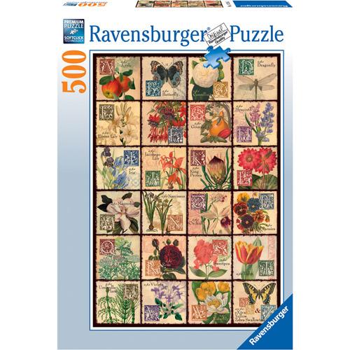 Ravensburger Vintage Flora Puzzle, 500 Pieces by Generic