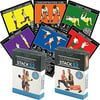 Dumbbell Exercise Cards Duo Pack by Stack 52. Dumbbell Workout Playing Card Game. Video Instructions Included. Perfect for Training with Adjustable Dumbbell Free Weight Sets and Home Gym Fitness.