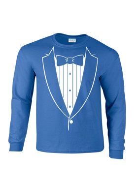 76dcbc8c46ef5 Product Image Bow Tie Tuxedo Tux Long Sleeve T-Shirt