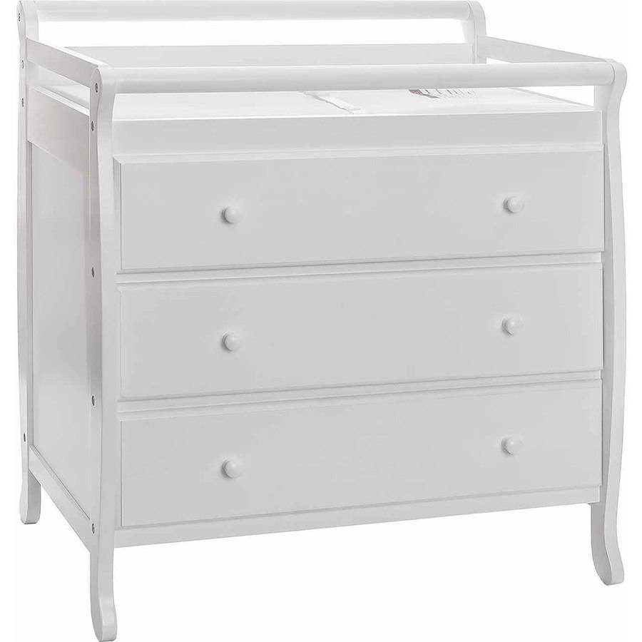 Dream On Me Liberty 3 Drawer Changing Table With Pad, White