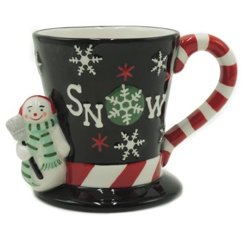 Holiday Time Set of 4 Snowman Top Hat Mug