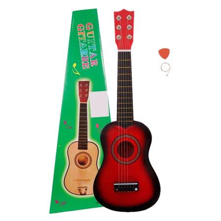 ktaxon new 21 25 black kid guitar cheap small 6 string guitar musical instrument children. Black Bedroom Furniture Sets. Home Design Ideas