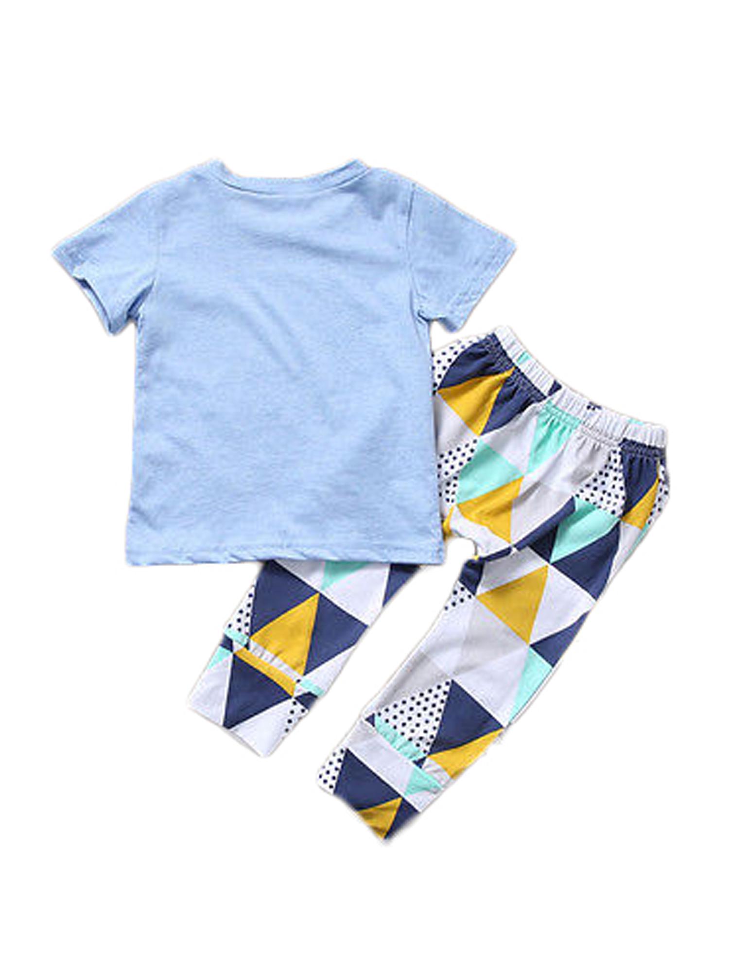 Boys Clothing Children Summer Clothes Kids T-shit And Pants Set Fashion Cotton