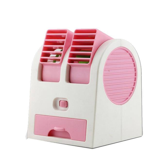 Portable USB Mini Air Conditioner Cooler Fan Dual Air Conditioner PK