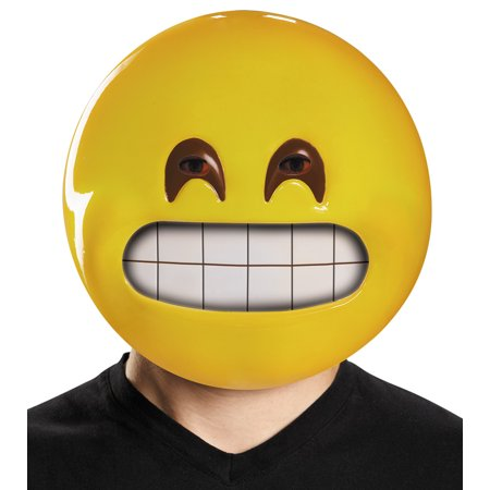 Grin Emoticon Mask Adult Halloween Accessory (Japanese Emoticons Halloween)