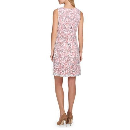 Best Tropical Lace Shift Dress deal