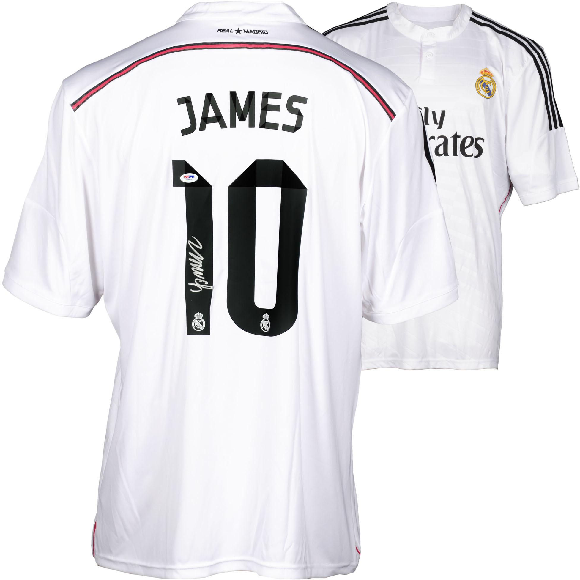 James Rodriguez Real Madrid Autographed White Jersey - Fanatics Authentic Certified