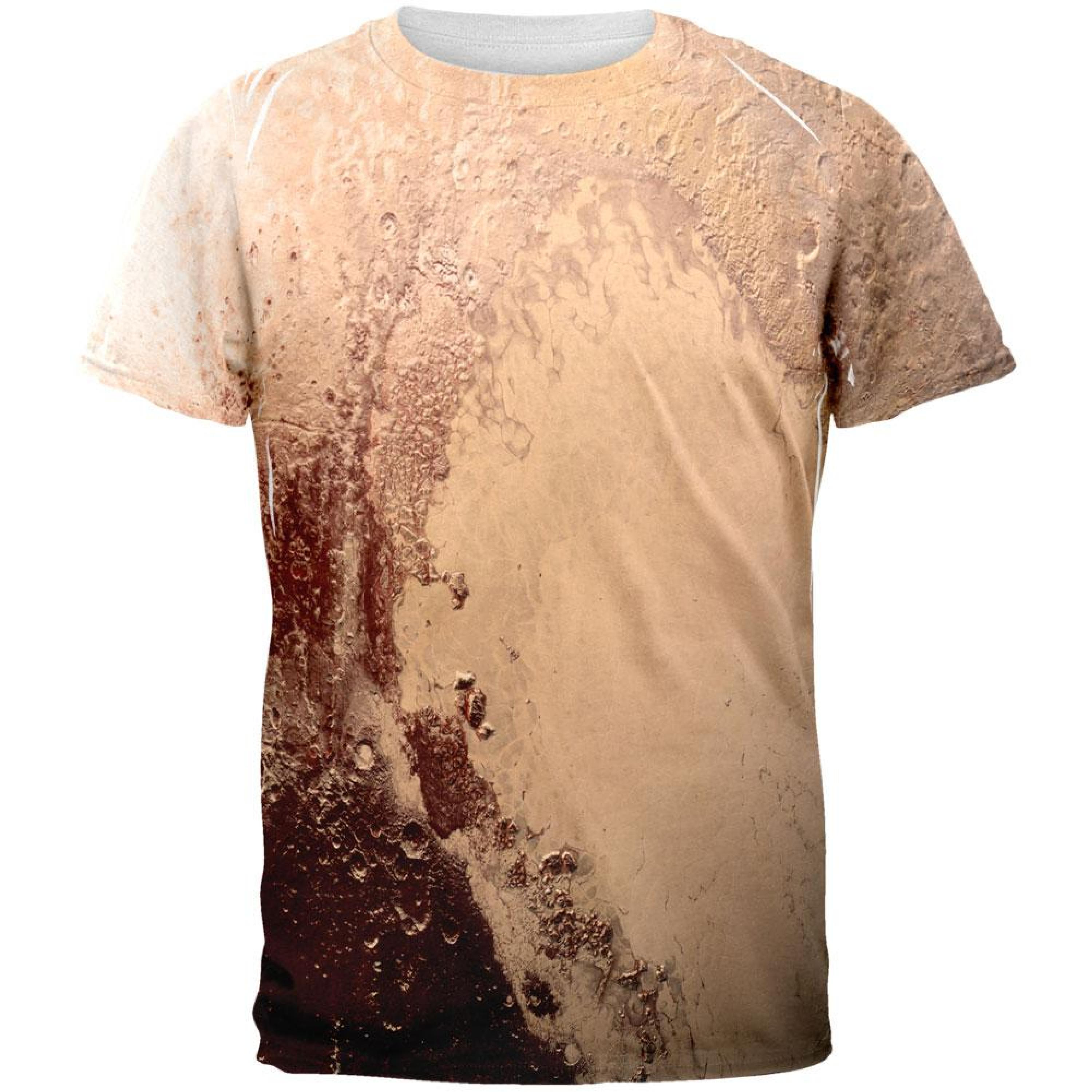 Solar System Planet Pluto All Over Adult T-Shirt