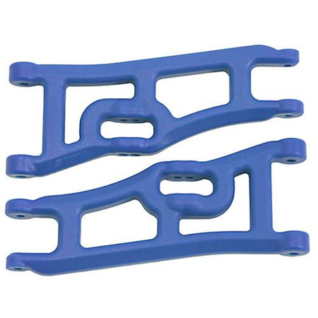 Wide Front A-arms, Blue; Traxxas Rustler Stampede