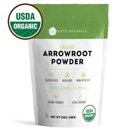 - Arrowroot Flour Organic - Kate Naturals. Perfect For Baking, Cooking, & Thickening Sauces and Gravy. Resealable Bag. Gluten-Free and Non-GMO. 1-Year Guarantee