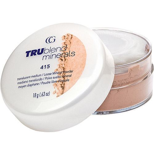 COVERGIRL truBLEND Minerals Loose Powder Foundation, 415 Translucent Deep, 0.63 oz