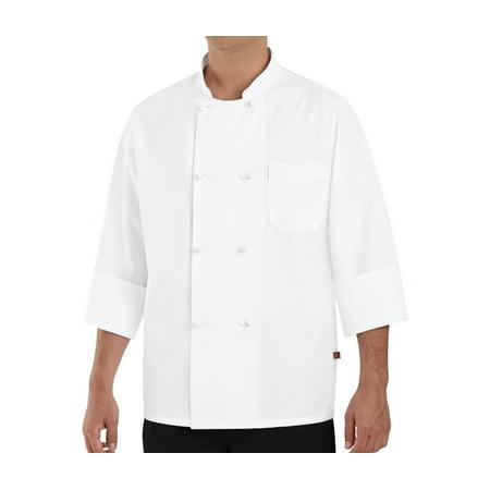 8 Button Chef Coat - Men's Eight Knot Button Chef Coat